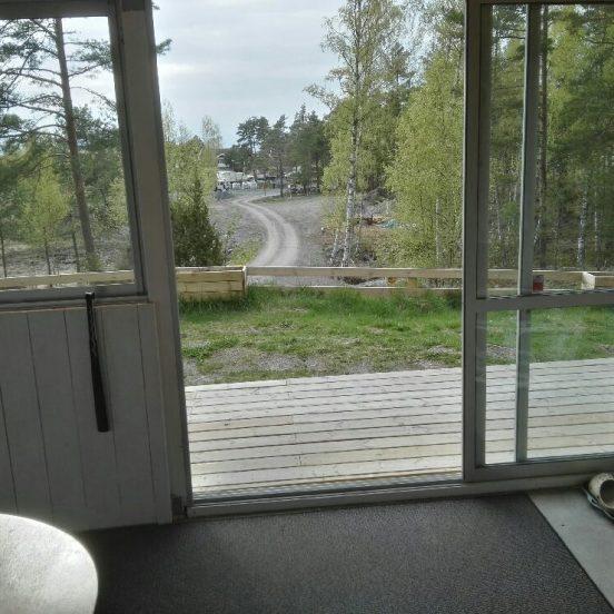 Gula Stugan - Utsikt från verandan